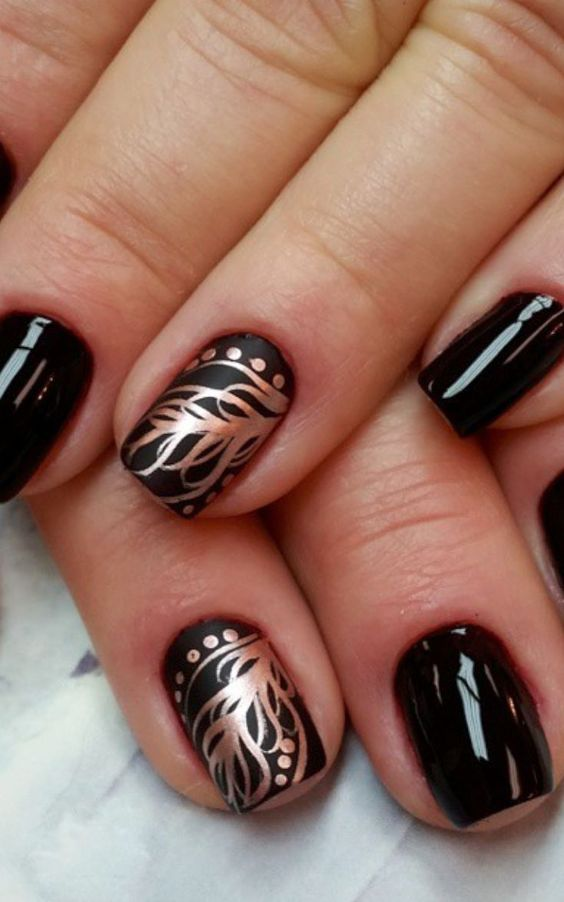 9638eacccc366f1db1adcb3b33ab4b5e 36 Easiest Feather Nail Art Designs