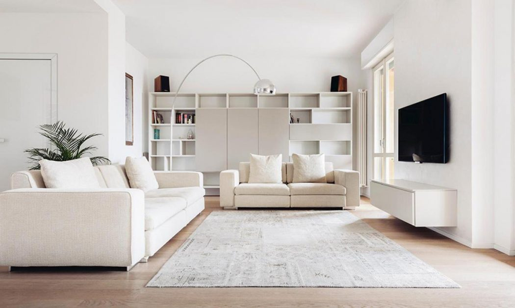 All-White-Furniture4 20+ Living Room Design Ideas in 2017