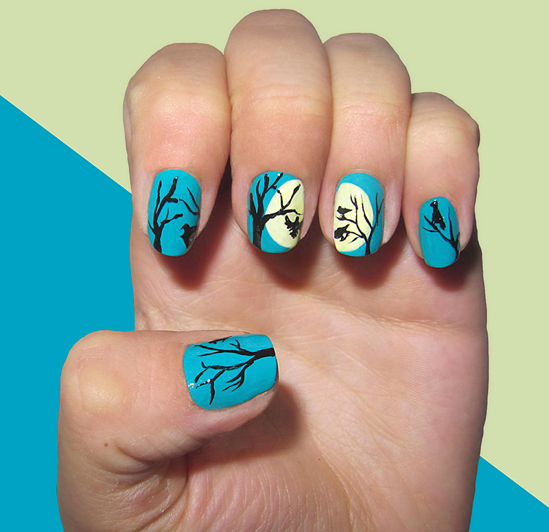 Autumn-Trees2 10 Thanksgiving Nail Art Design To Try