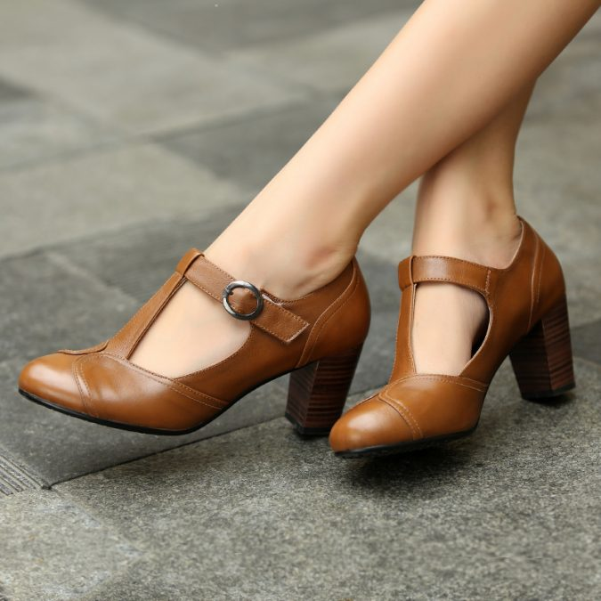Black-Brown-British-Style-Work-T-Strap-Women-Genuine-Leather-Vintage-Shoes-Ladies-High-Chunky-Heel-675x675 5 Upcoming Shoes Trends for Women in 2020