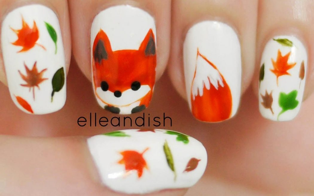 Cartoon-Thanksgiving-Designs2 10 Thanksgiving Nail Art Design To Try