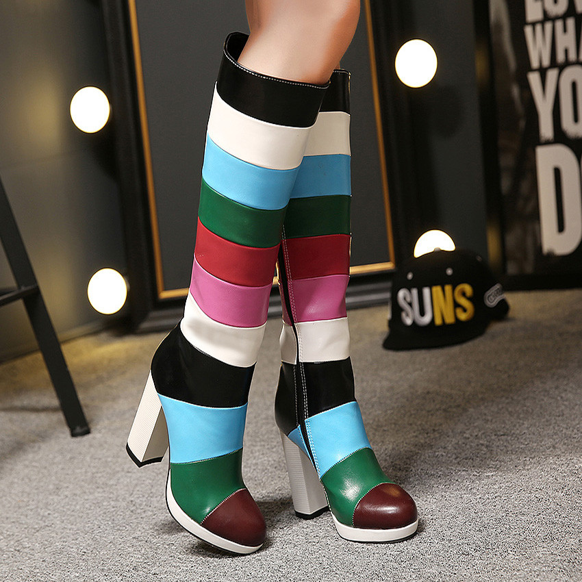 Colorful-Boots1 Top 10 Most Stylish Boot Trends