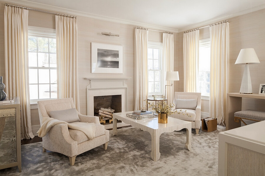 Creamy-and-Dark-Colors1-1 +20 Most Creative Designs For Living Rooms