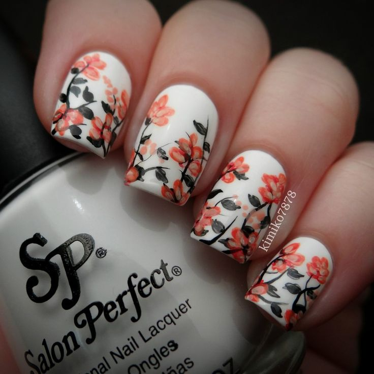 Fall-Flowers3 10 Thanksgiving Nail Art Design To Try