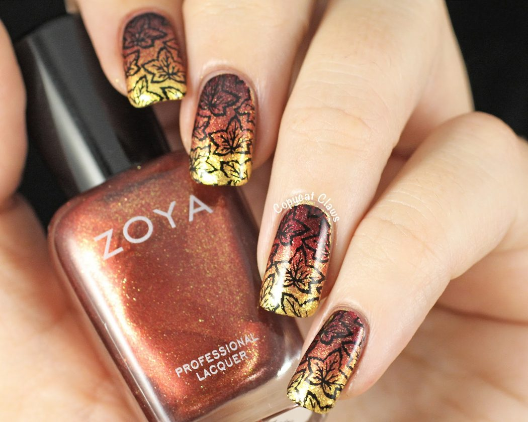Falling-Leaves-of-Autumn2 10 Thanksgiving Nail Art Design To Try