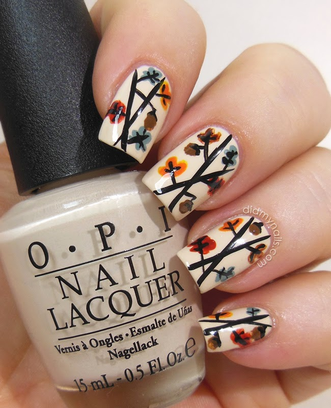 Falling-Leaves-of-Autumn4 10 Thanksgiving Nail Art Design To Try