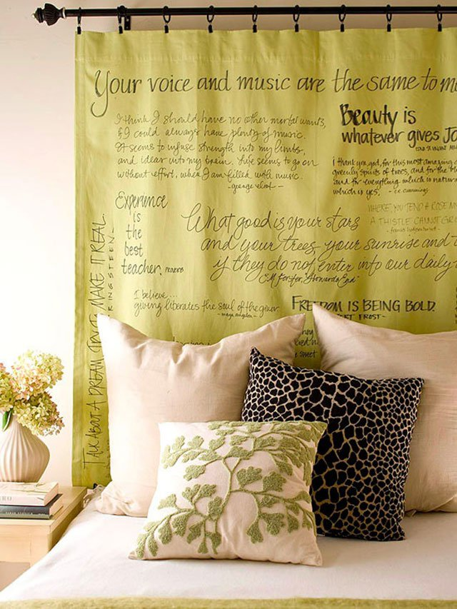 Favorite-Quotes-Curtain4 37+ Creative Curtains Design Ideas To DIY