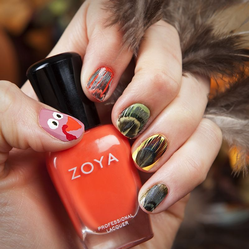Googly-eyed-Turkey1 10 Thanksgiving Nail Art Design To Try