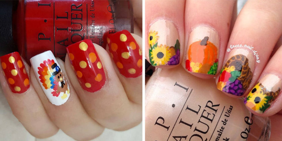 Jumble-Different-Designs1 10 Thanksgiving Nail Art Design To Try