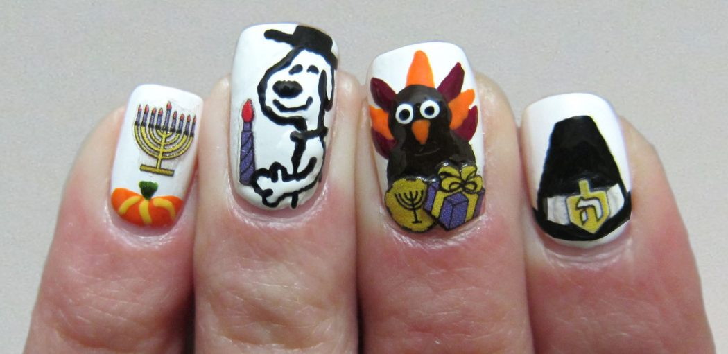 Jumble-Different-Designs2 10 Thanksgiving Nail Art Design To Try