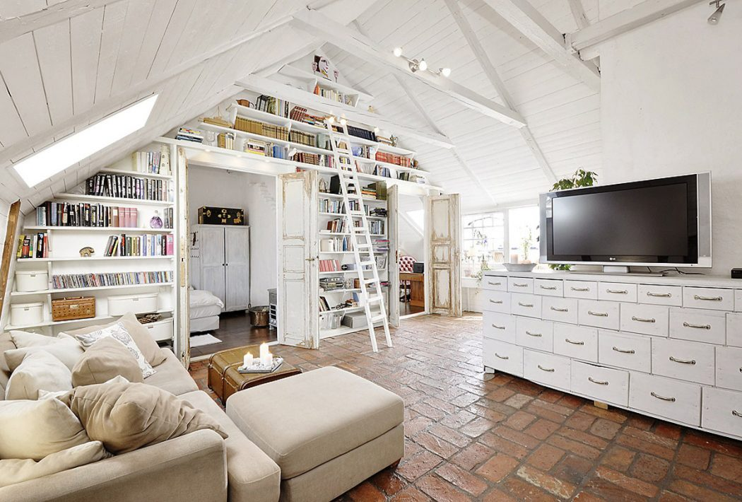 Library-Dominated-Room1-1 +20 Most Creative Designs For Living Rooms