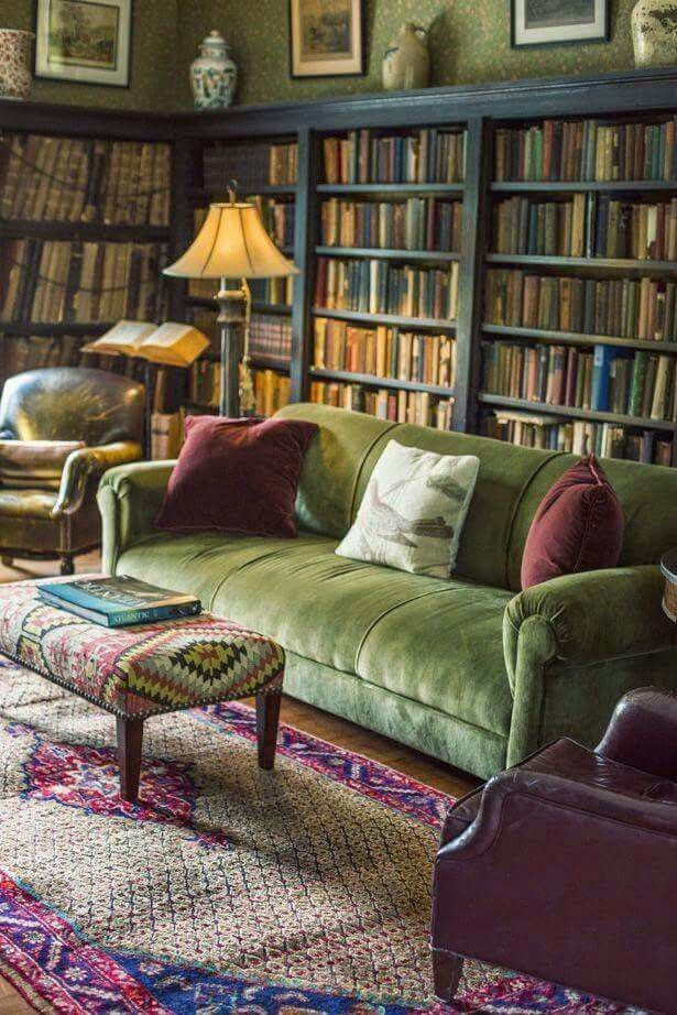 Library-Dominated-Room4 20+ Best Living Room Design Ideas in 2020