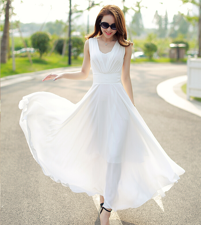 Long-Dresses 20+ White Party Outfits Ideas for Women in 2018