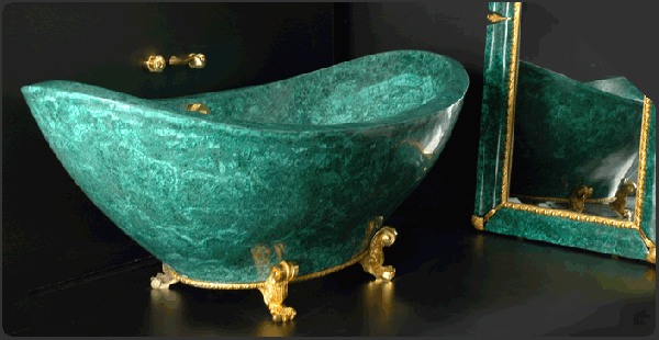 Malachite-bath-tub-baldi-1 69 Most Expensive Gemstones Bathtubs