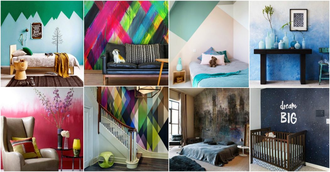 Painted-Walls +20 Most Creative Designs For Living Rooms