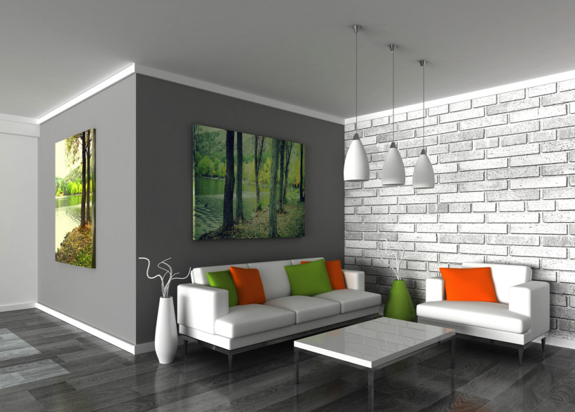 Painted-Walls3 +20 Most Creative Designs For Living Rooms