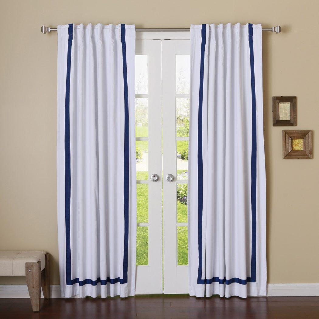 Ribbon-Glued-Curtain3 37+ Creative Curtains Design Ideas To DIY