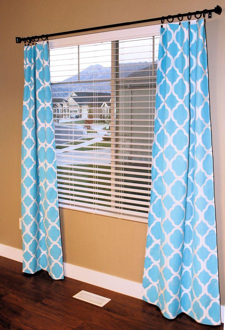 Stenciled-Curtains1 37+ Creative Curtains Design Ideas To DIY