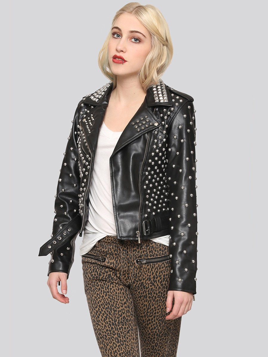 Studded-Moto-Jacket2 8 Main Winter & Fall Jackets & Coats Trends in 2018