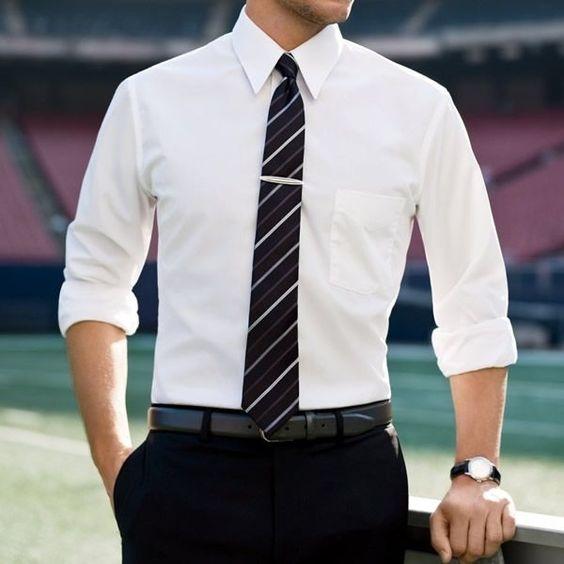 White-Plain-Shirt1 6 Elegant Weddings Outfit Ideas for Men in 2020