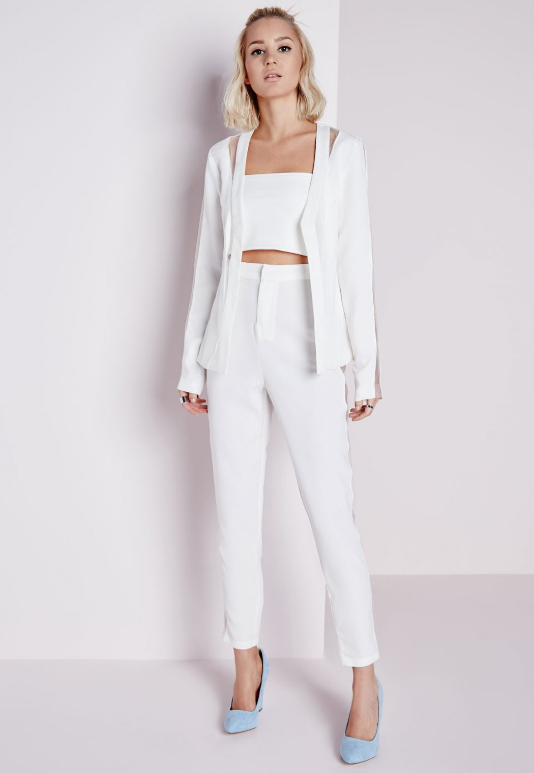 White-Trousers1 20+ Hottest White Party Outfits Ideas for Women in 2020