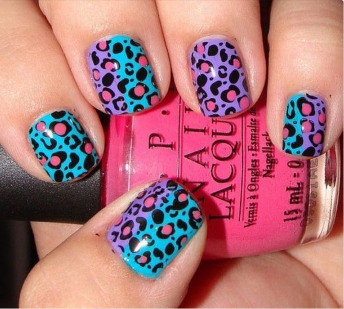 best-animal-print-nails7-675x606 6 Most Stylish Leopard and Cheetah Nail Designs