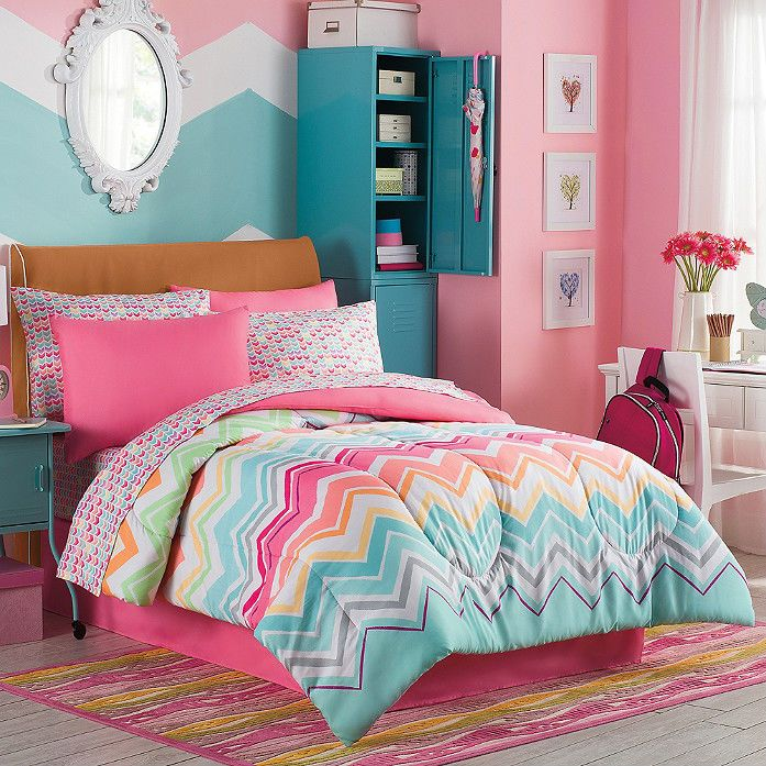 comforter-shams-sheets-chevron-multi-color-rainbow 5 Main Bedroom Design Trends For 2017
