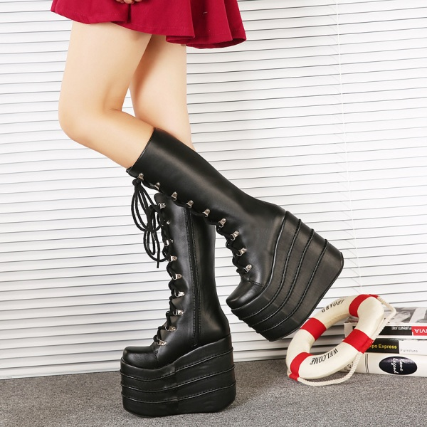 high-platforms-3 24+ Most Stylish Boot Trends for Women in 2020