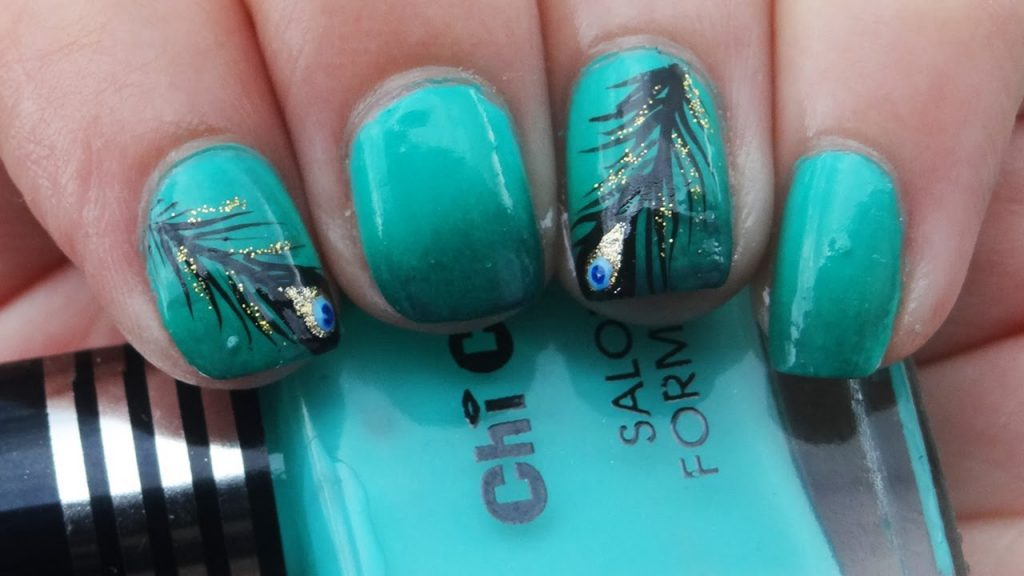 maxresdefault 36 Easiest Feather Nail Art Designs