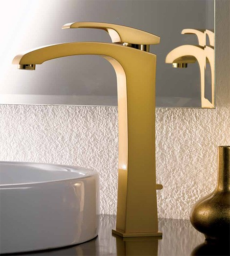 newform-gold-faucet-x-sense 55 Most Famous Diamond faucets