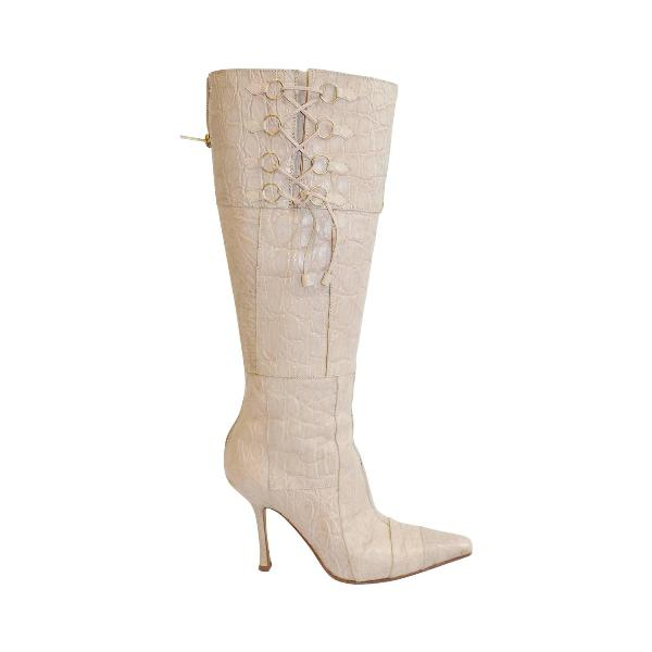 reptile-skin-boots-2 24+ Most Stylish Boot Trends for Women in 2020