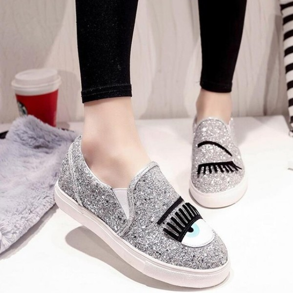 sequined-shoes-5 28 Catchiest Women's Shoe Trends to Expect in 2017