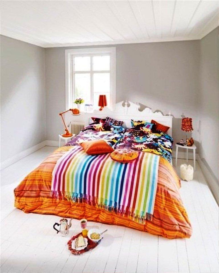 small-minimalist-nightstands-for-stripe-colorful-bedroom-sets_orange-stylish-bedpsread_white-luxury-headboard_medium-fresh-shiny-windows_cute-elegant-lamps 5 Main Bedroom Design Ideas For 2020