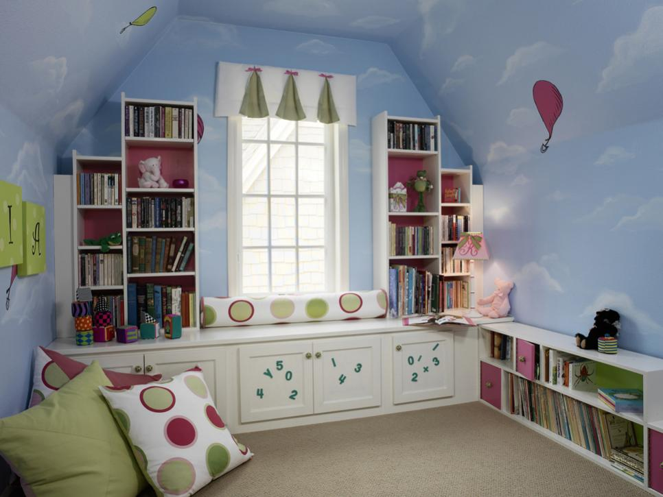 1-library-kids-room.jpg.rend_.hgtvcom.966.725 +25 Marvelous Kids' Rooms Ceiling Designs Ideas