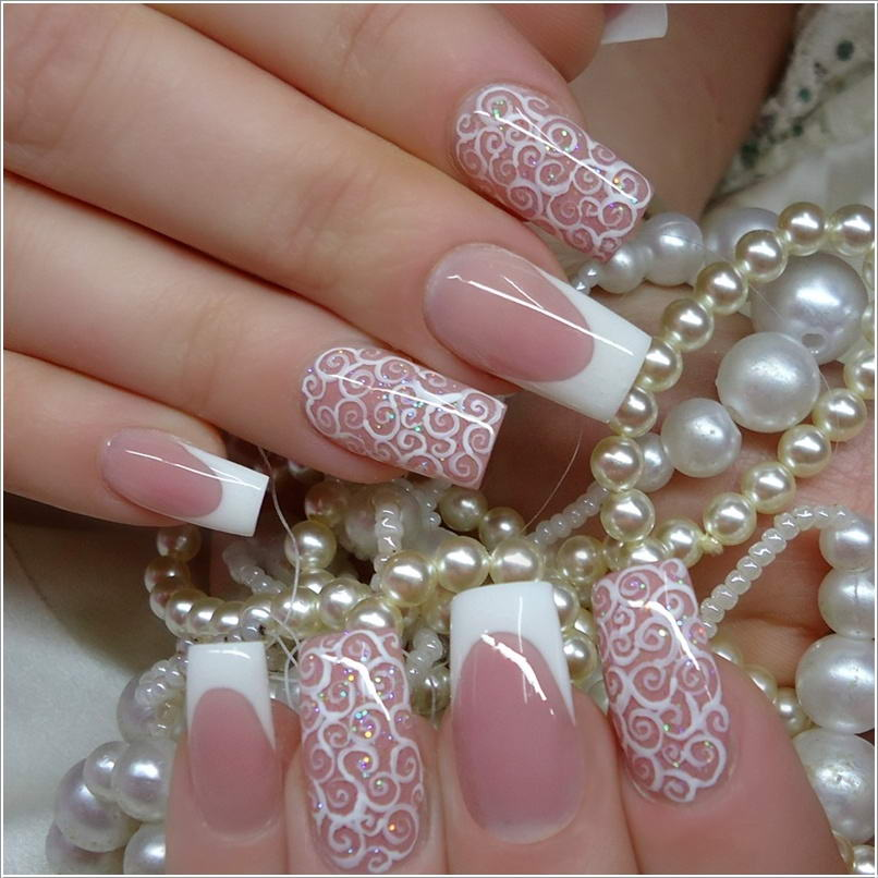 114 50+ Coolest Wedding Nail Design Ideas