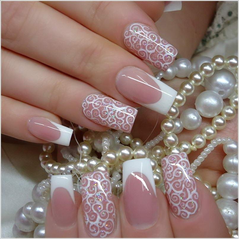 114 50+ Coolest Wedding Nail Design Ideas