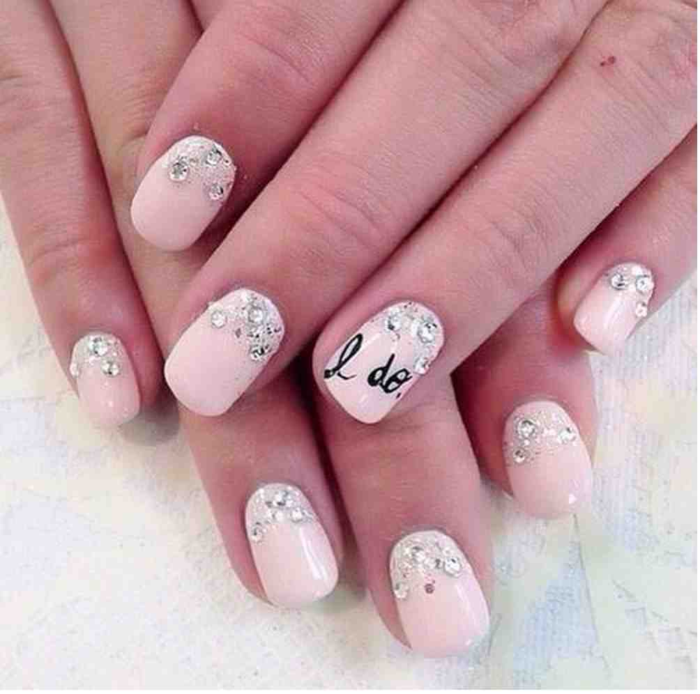 19-weddingnailart19 50+ Coolest Wedding Nail Design Ideas