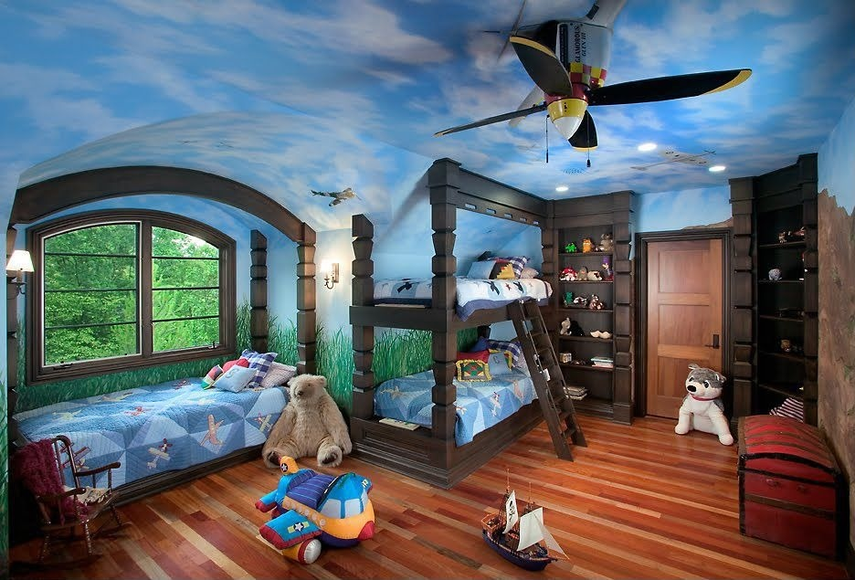 Childrens-Ceiling-Fans-Theme +25 Marvelous Kids' Rooms Ceiling Designs Ideas
