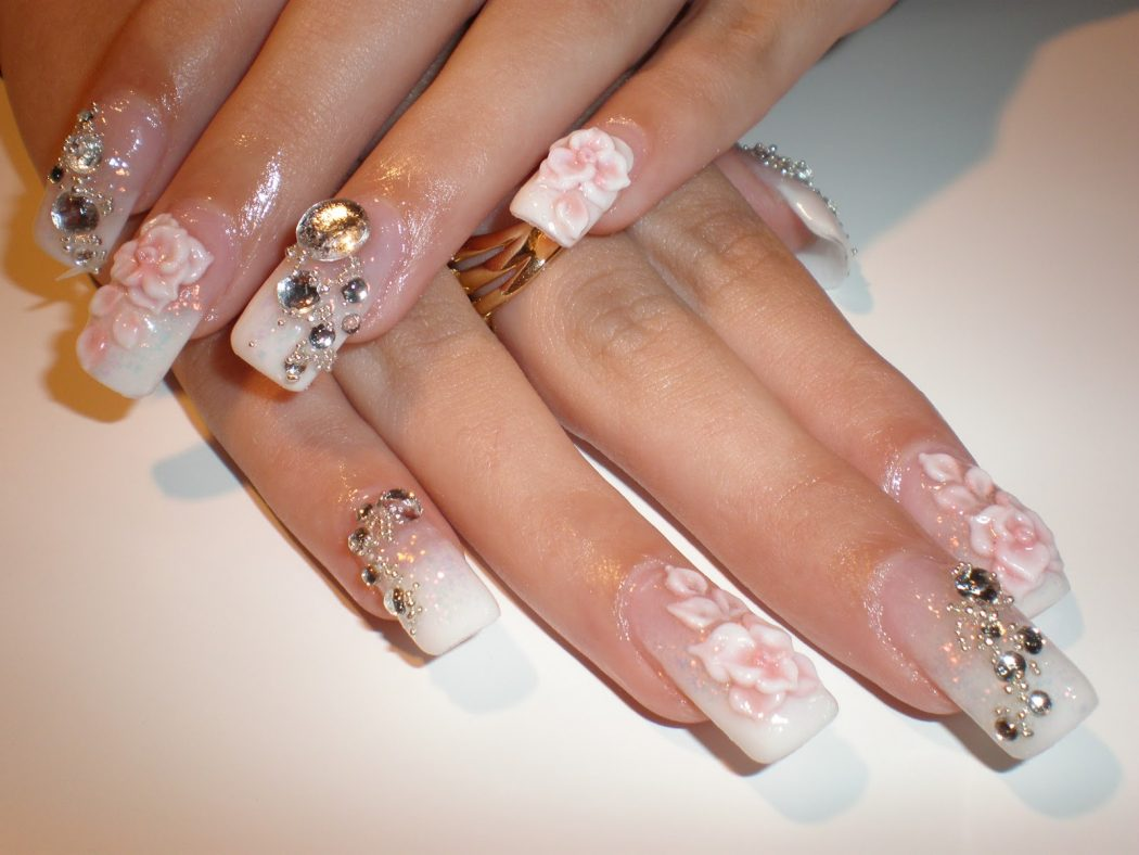 Classy-Wedding-Nail-Art-Designs-Inspirations 50+ Coolest Wedding Nail Design Ideas
