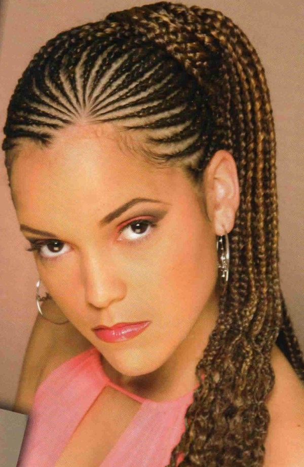 Cornrow-Braided-Hairstyles-For-Black-Women-with-Ponytail Most Trendy Classic Prom Hairstyles of Long Hairs
