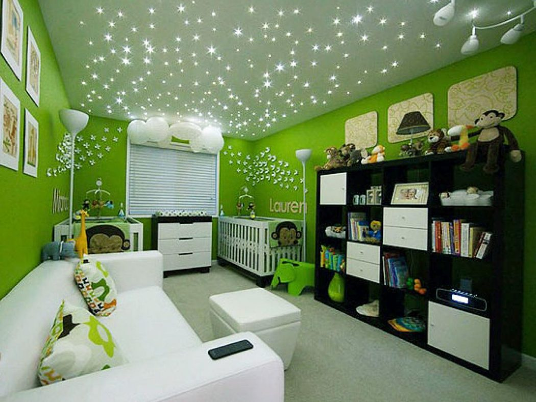 HGRM-house-counselor-twins-nursery-lights_s4x3.jpg.rend_.hgtvcom.1280.960 +25 Marvelous Kids' Rooms Ceiling Designs Ideas