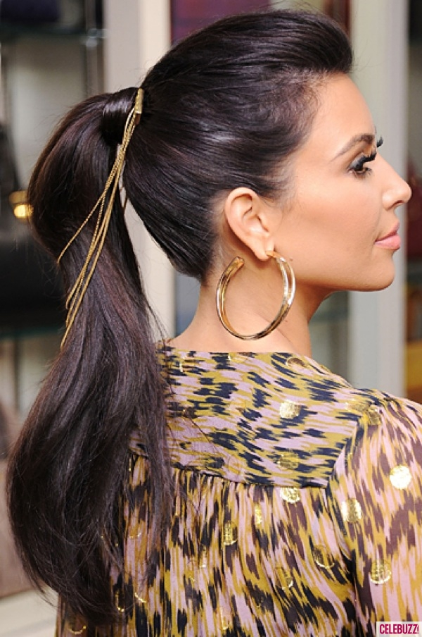 Kim-Kardashian-Sleek-Slick-Ponytail-Beauty-How-To-062612-1-600x904 Most Trendy Classic Prom Hairstyles of Long Hairs