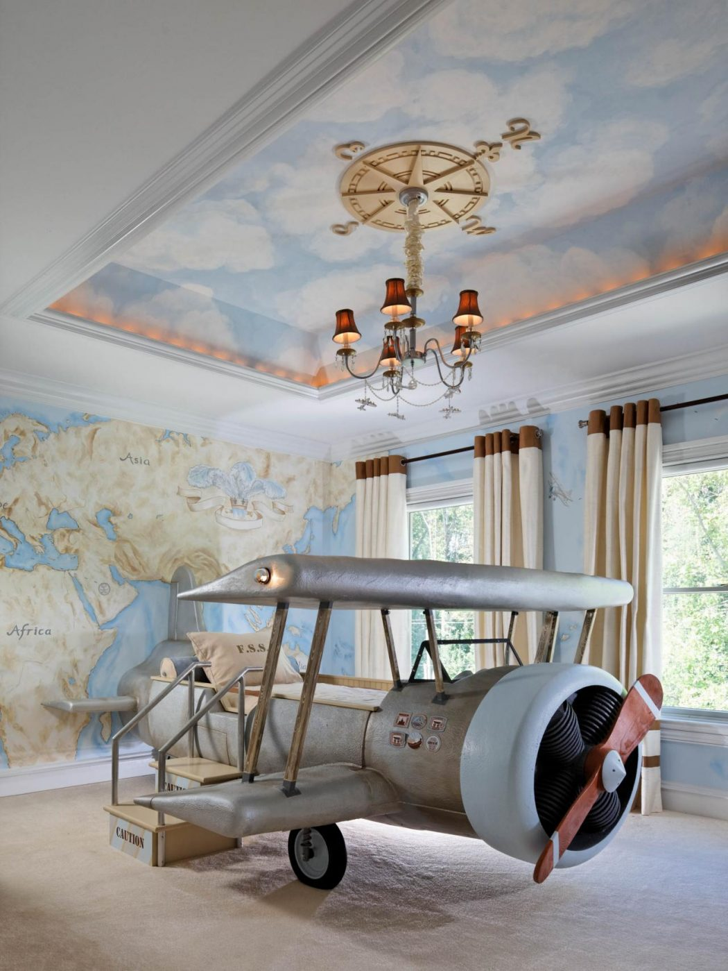 RS_dahlia-mahmood-blue-eclectic-kid-room-airplane_3x4.jpg.rend_.hgtvcom.1280.1707 +25 Marvelous Kids' Rooms Ceiling Designs Ideas