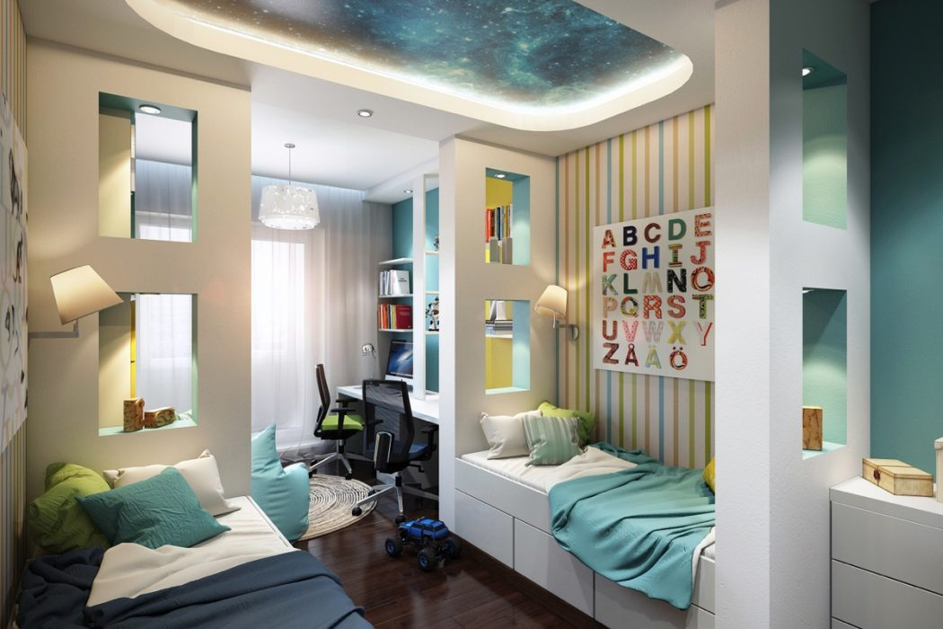 awesome-ceiling-paint-job +25 Marvelous Kids' Rooms Ceiling Designs Ideas