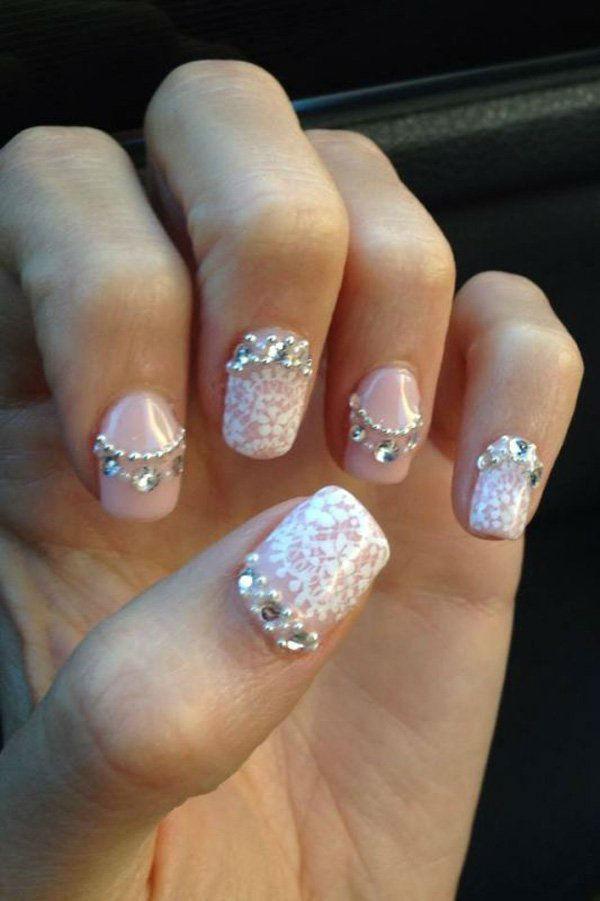 wedding-nail-art-design58 50+ Coolest Wedding Nail Design Ideas