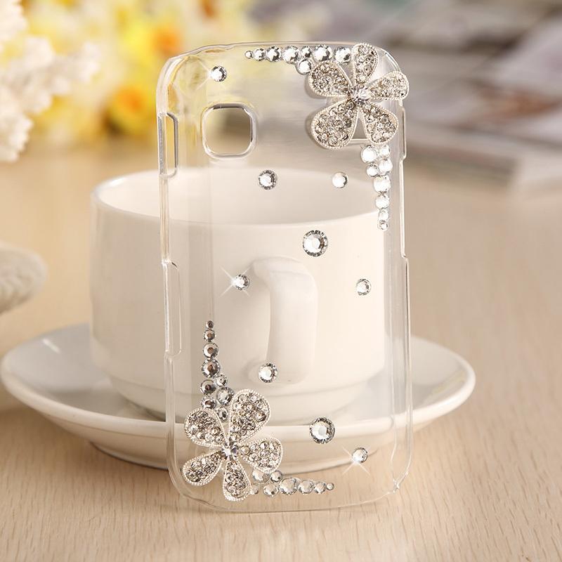 2pcs-10-off-Beautiful-Flower-3D-bling-diamond-font-b-case-b-font-hard-cover-for 80+ Diamond Mobile Covers