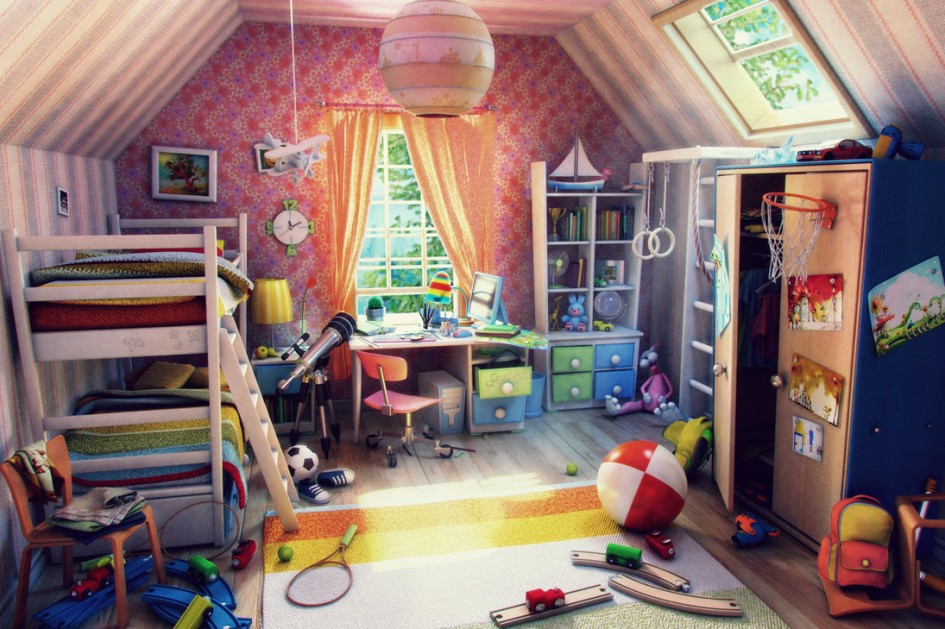54564 +25 Marvelous Kids' Rooms Ceiling Designs Ideas