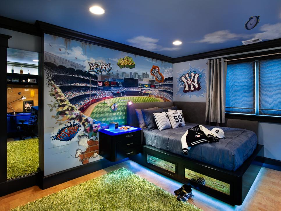 DS_Leslie-Lamarre-blue-transitional-baseball-themed-bedroom_h.jpg.rend_.hgtvcom.966.725 +25 Marvelous Kids' Rooms Ceiling Designs Ideas