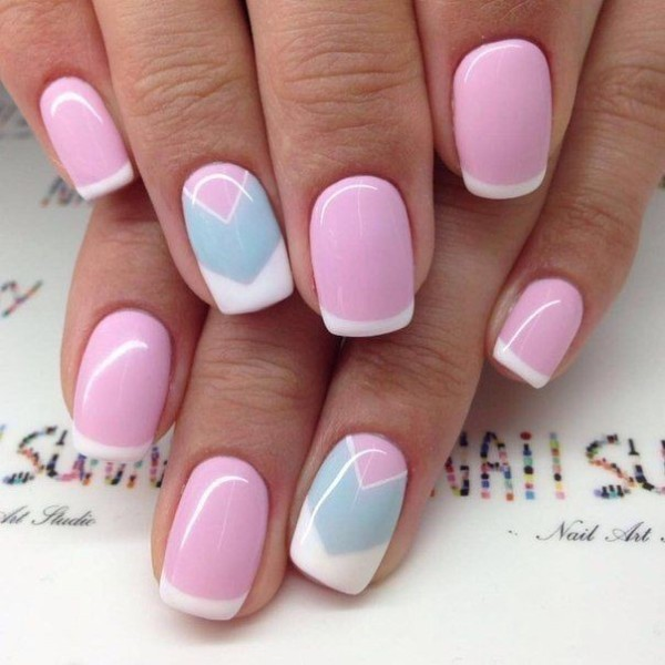 French-manicure-18 28+ Dazzling Nail Polish Trends You Must Try in 2019