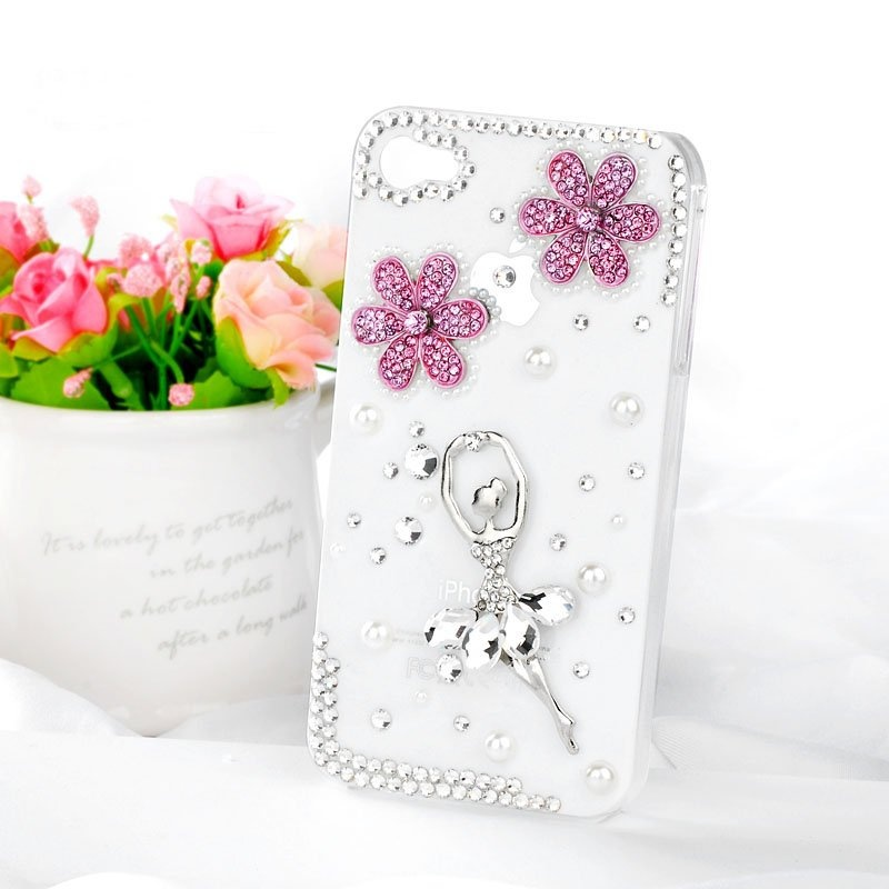 Hot-Ballet-Girl-bling-diamond-mobile-phone-luxury-cover-for-iphone4-4s-rhinestones-case-accessories-4g 80+ Diamond Mobile Covers